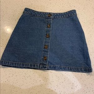 Forever 21 blue denim skirt with buttons; S